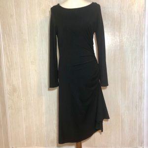 Boston Proper Black Asymmetrical Hem Dress